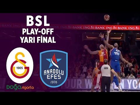 BSL Play-Off Yarı Final 3. Maç Özeti | Galatasaray Doğa Sigorta 72-78 Anadolu Efes