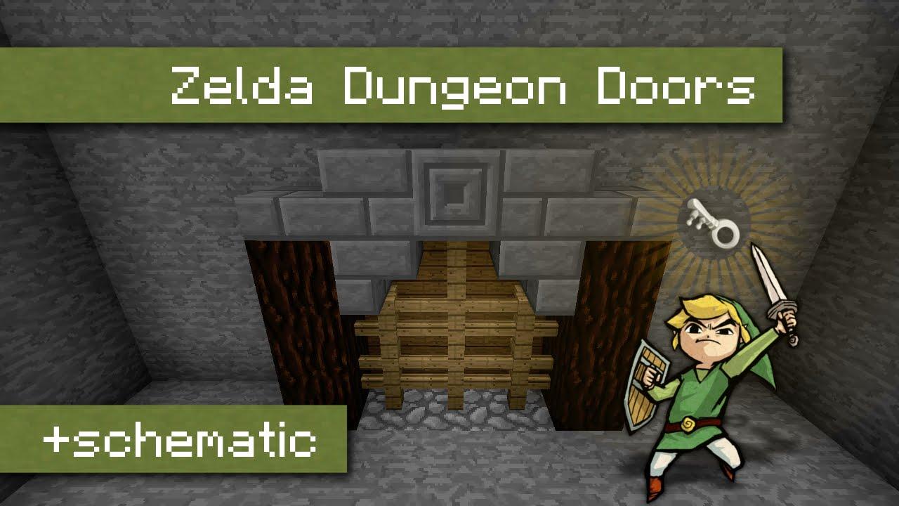Zelda Dungeon Doors In Vanilla Minecraft With Key System