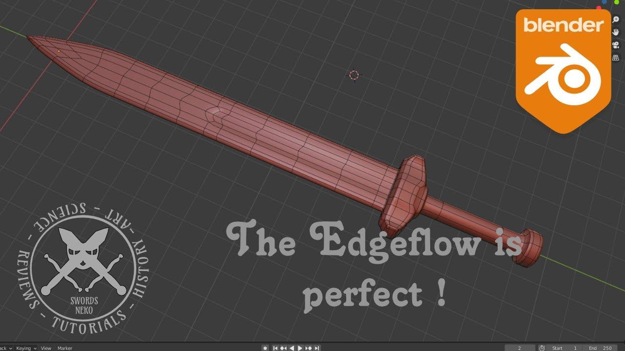 How To Model A Sword With Perfect Edgeflow In Blender 2 9 Youtube Blender Tutorial Blender Blender 3d