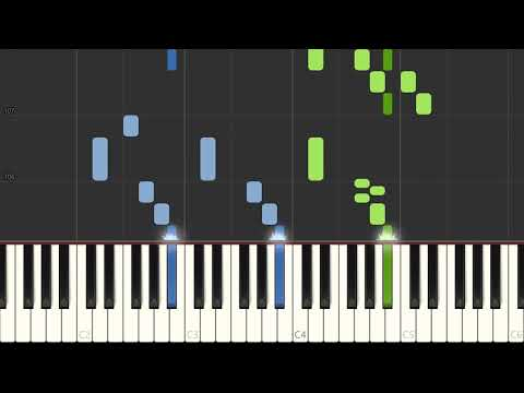 Dean Martin That's Amore (That's Love) piano tutorial, free sheet music thumbnail