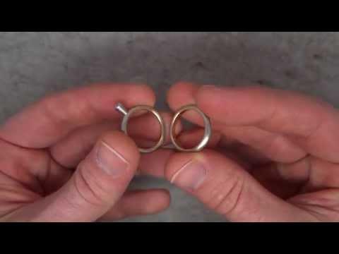 1486e40ef Henrich & Denzel - Platinum & Rose Gold Petite Round Engagement Ring Set -  ORRO Contemporary - YouTube