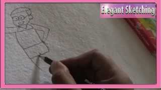 nobita drawing,easy nobita drawing,easy drawings for childre,simple drawing for children.