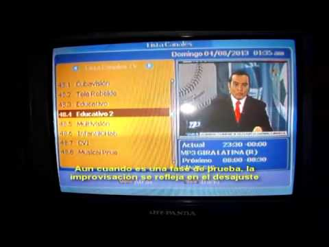 Sobre las pruebas de TV Digital en Cuba