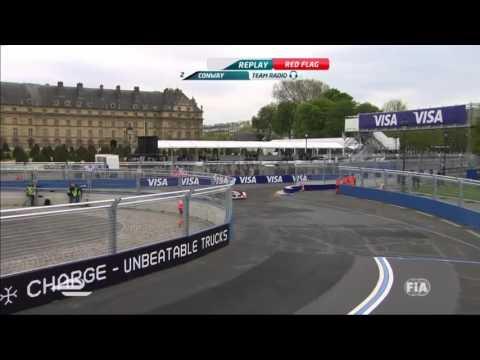 Formula E   Qualifying Paris ePrix  Mike Conway & Nick Heidfeld Big Crash