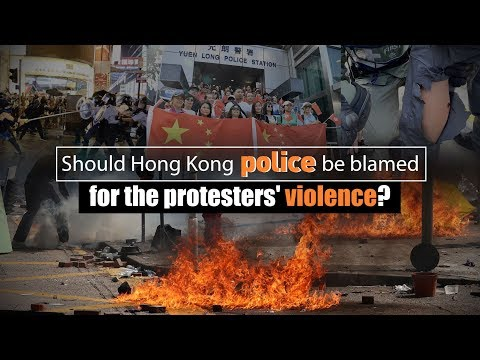 Should Hong Kong police be blamed for protesters' violence?