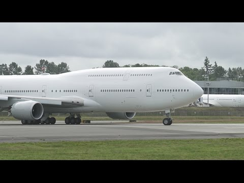 Ex-Transaero Now USAF 747-8i First Flight at Paine Field