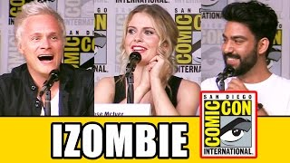 iZOMBIE Season 3 Comic Con Panel (Part 1) - Rose McIver, Aly Michalka, David Anders, Rahul Kohli