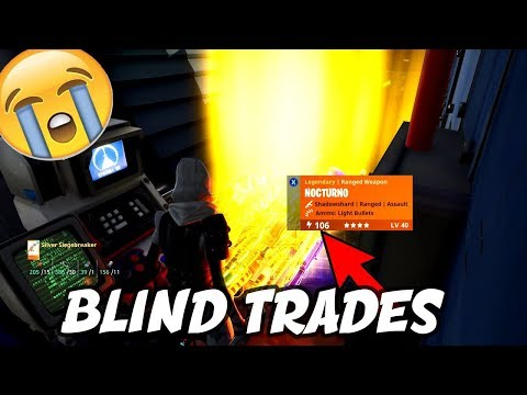 Insane BLIND TRADES with RICHEST Inventory EVER! | Fortnite Save the World