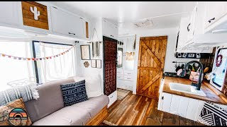 Her Gorgeous Renovated DÏY Tiny House - Single Solo Female RV Life
