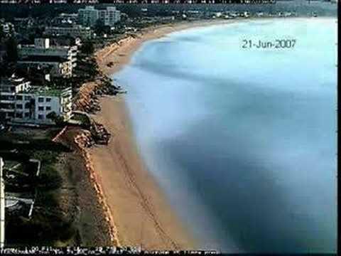 Collaroy Narrabeen Beach Erosion Time Lapse
