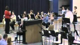 waco fifth grade concert band performs lightly row