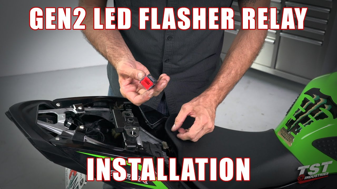 Kawasaki Versys 650 Headlight Relay Wiring Diagram Electrical How To Install An Led Flasher On A 2013 Zx6r By Tst Rh Youtube Com