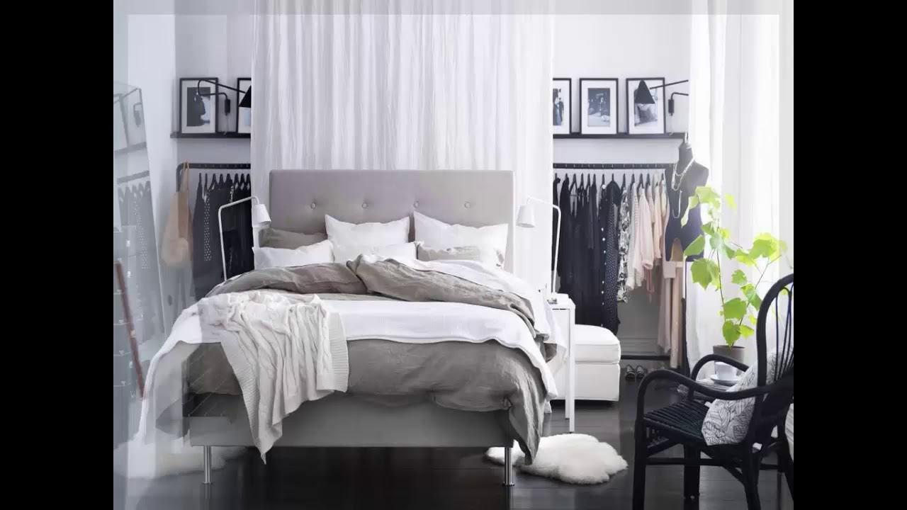 kleine schlafzimmer ideen ikea trend youtube. Black Bedroom Furniture Sets. Home Design Ideas