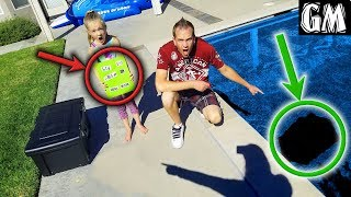 Game Master Top Secret Mystery Box Found Underwater in Pool!!