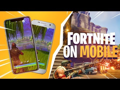 PLAY FORTNITE: BATTLE ROYALE ON YOUR PHONE! (iPhone & Android)