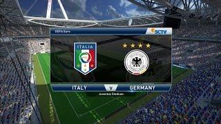 PES 2015 - Italy vs Germany - FINAL UEFA Euro 2016
