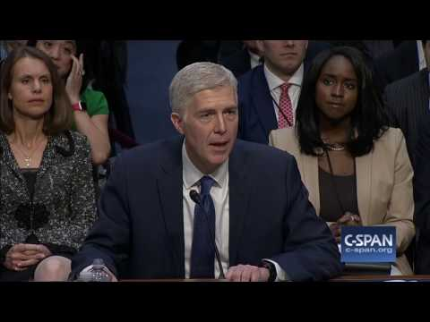 Supreme Court Nominee Judge Neil Gorsuch FULL Opening Statement (C-SPAN)