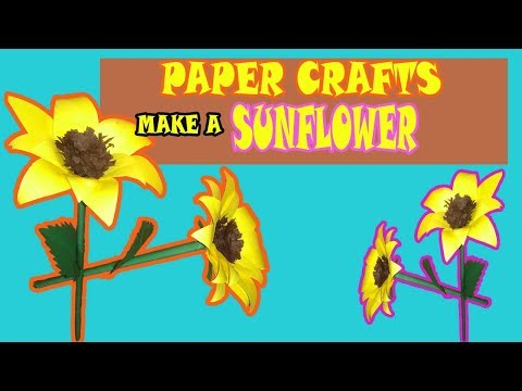 Diy-How To Make a Sunflower with Paper|Diy Paper Crafts Sunflower| Home Decor|Paper Crafts Idea