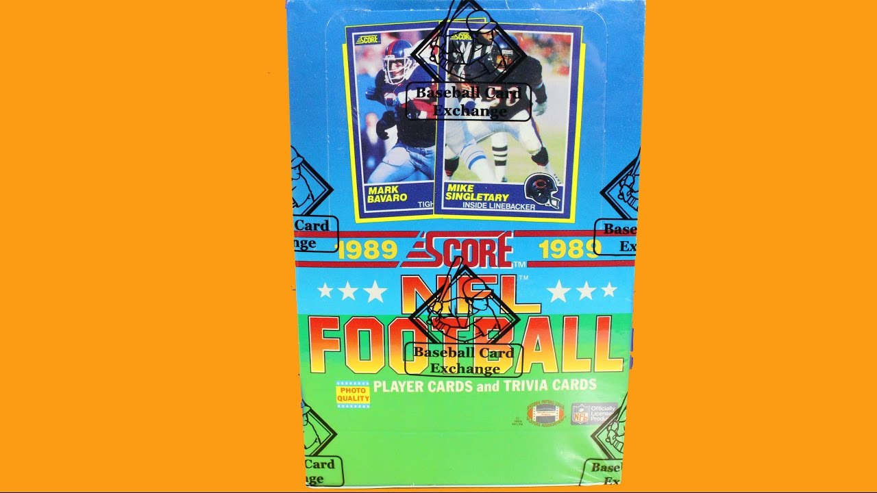 1989 Score Football Cards Pack Opening Possible Barry Sanders Rookie
