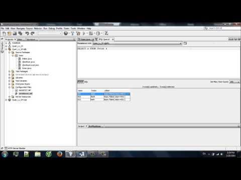 Test Code Query EJB QL In Netbean
