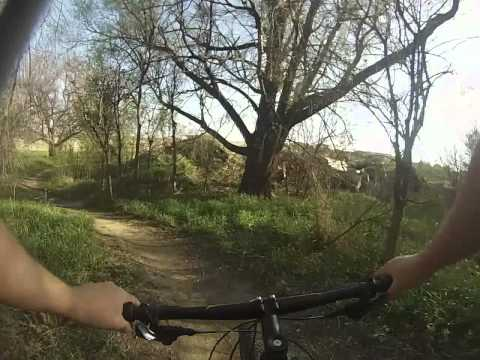Omaha, NE Tranquility Park Mountain Biking 05-03-14 Part 2