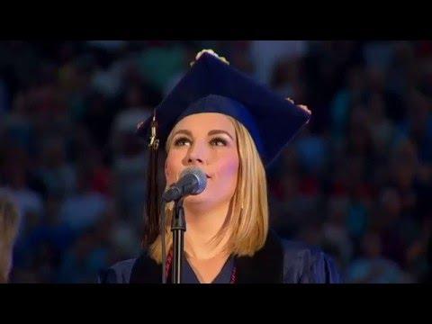Sarah Ambrose - National Anthem at the University of Arizona 2016 Commencement