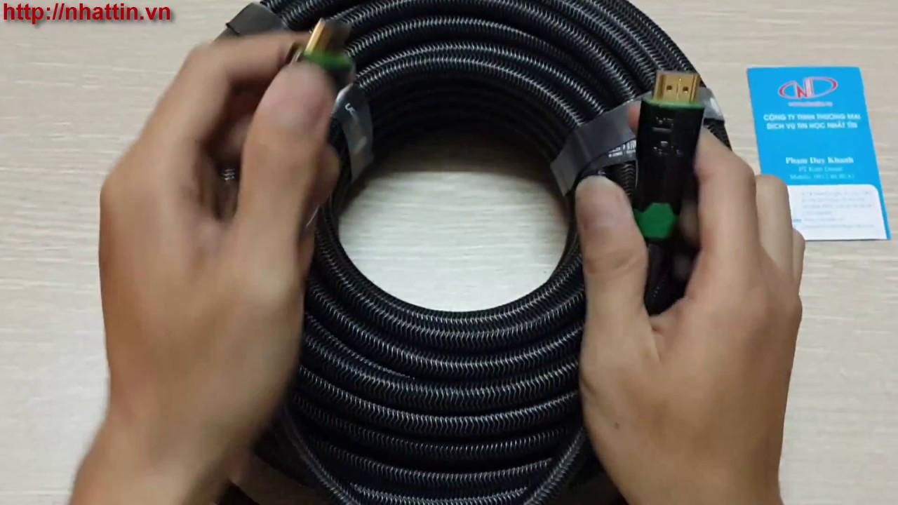 Cáp HDMI 20m hỗ trợ 4K*2K HD126 Ugreen 10299 vỏ bọc kim loại cao cấp -  YouTube