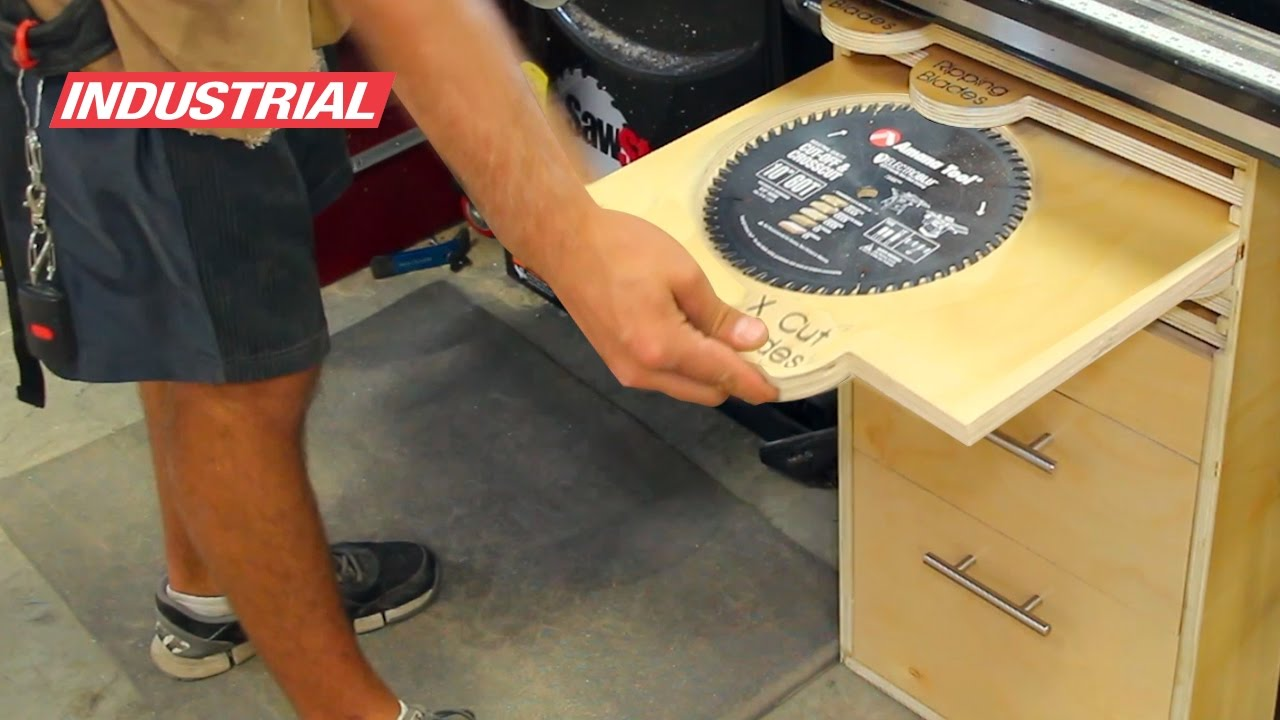 How To Build A Plywood Table Saw Storage Cabinet Using Amana Tool