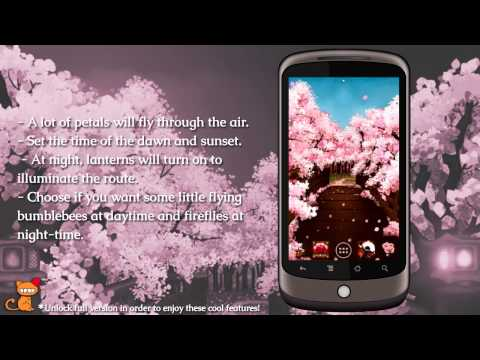 Sakura's Bridge Live Wallpaper for Android devices