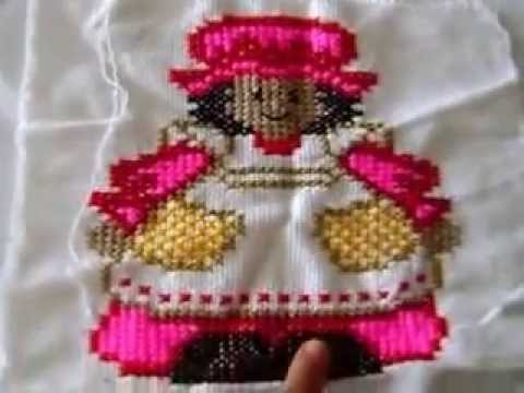Muestras de punto de cruz para vestidos