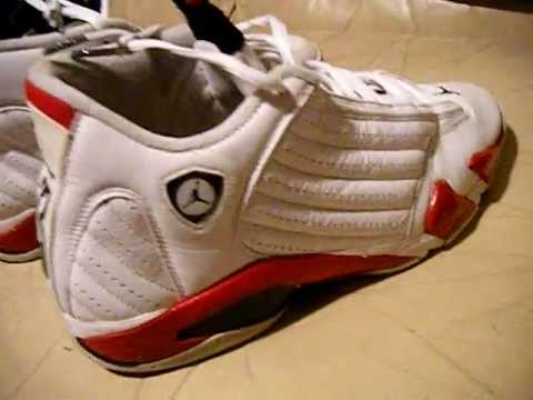 d0b5a48d7fd Nike Air Jordan 14 XIV retro 2005 white / red size 13 , used authentic for  sale video for ebay