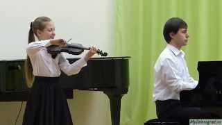 """А. Литвинов. """"Вечное движение"""". Исполняет Василиса Синельникова (скрипка, 4 класс)"""