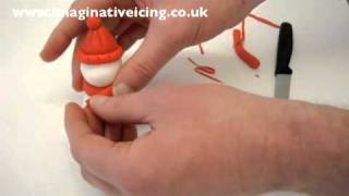 How to make an Icing Snowman for your Christmas Cake - Easy