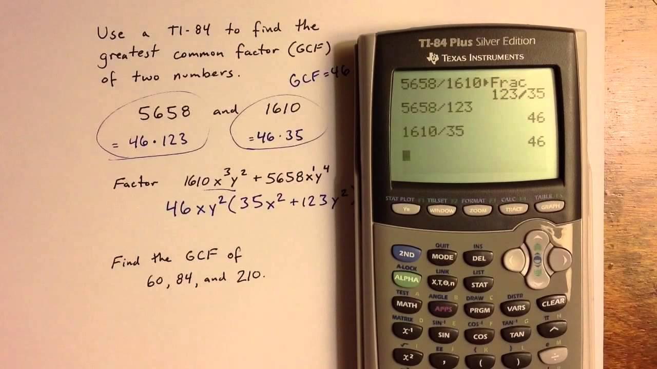 Findingmon Factors With A Ti84
