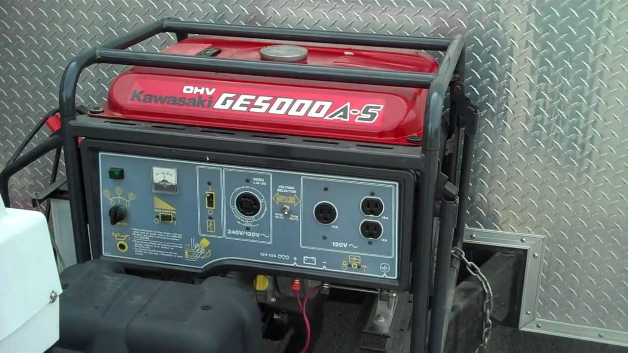 2005 Roadmaster Tandem Axle Enclosed Hobby Trailer with Generator - 184 -  Generator Start Up MP4