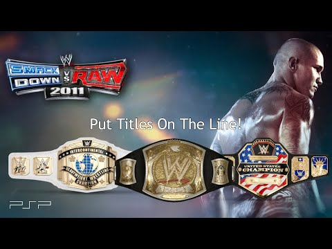How To Make A Title Match In WWE Smackdown Vs Raw 2011