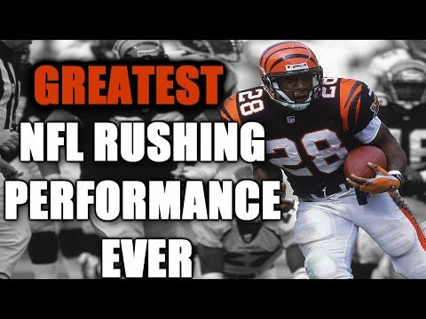 GREATEST NFL RUSHING PERFORMANCE EVER!