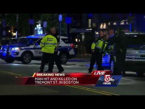 Pedestrian struck, killed crossing Tremont Street