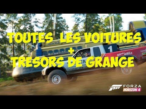 Forza Horizon 4 Toutes Les Voitures Tresors De Grange Youtube