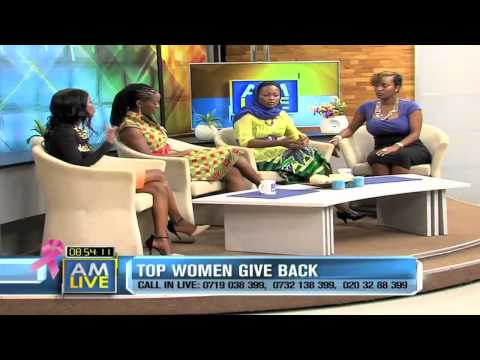 AM Live October 16, 2014  Top Women Give Back