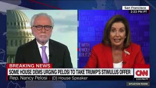 Nancy Pelosi Melts Down After Wolf Blitzer Decides to Become a Reporter.