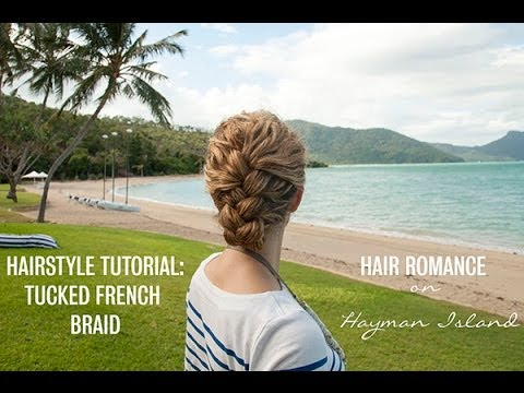 French Braid Tucked Updo Hairstyle Tutorial In Curly Hair Youtube