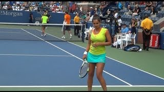 Sania Mirza and Colin Fleming US Open 2012 mixed doubles quarterfinal clip