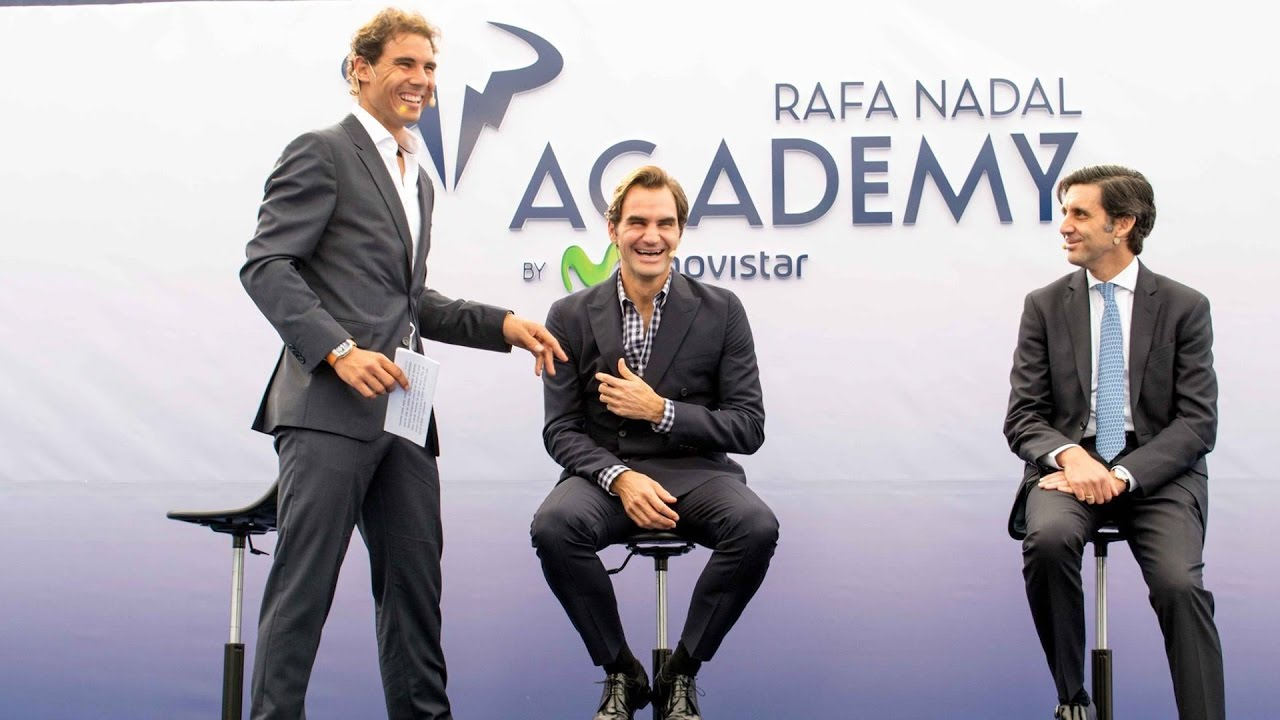 Roger Federer And Rafael Nadal Reunite For Nadal S New Academy Youtube