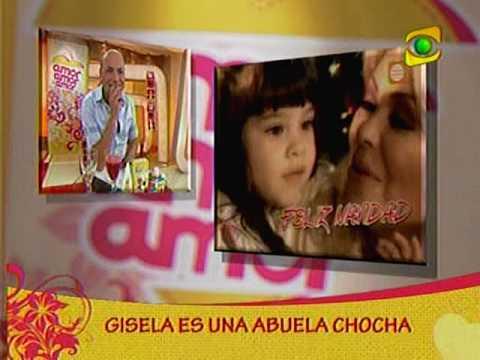 Gisela Valcárcel es una abuela chocha (Amor Amor Amor 07-12-09)