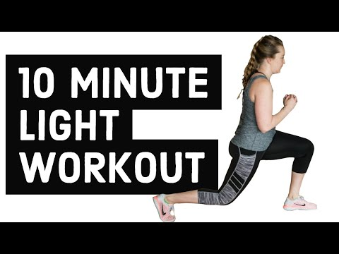 10 minute light workout  full body standing exercise for