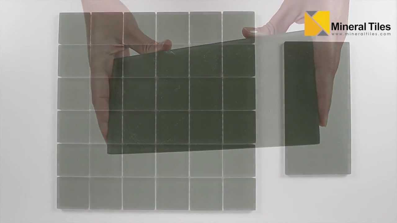 Ocean Glass Tile Green Frosted 2x2 And Subway 4x8 Youtube