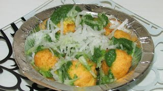 Ram Laddu with chatni/Delhi street food Ram laddu with chatni recipe in hindi/By Easy Recipe