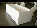 Freestanding bath tub - modern, sleek design. Perfect for tight spaces!