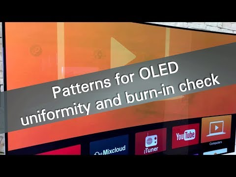 Patterns For OLED Uniformity And Burn-in Check